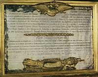 Одна из двух мемориальных досок со списком воинов корпуса генерала Витгенштейна, погибших в Отечественной войне 1812 года